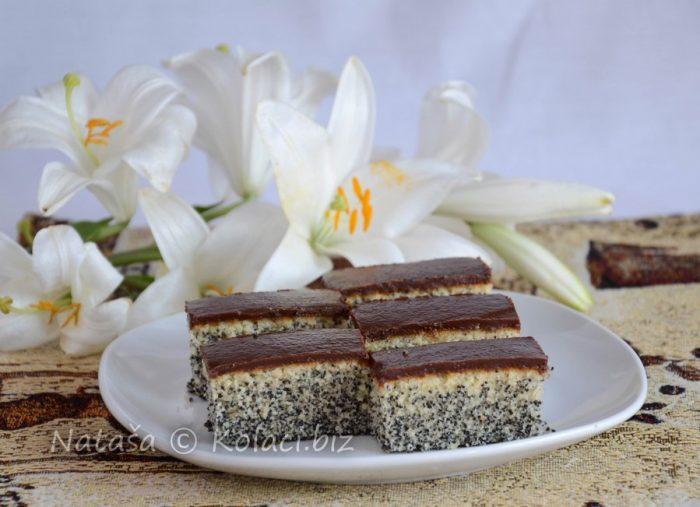 Kolač sa makom i čokoladom